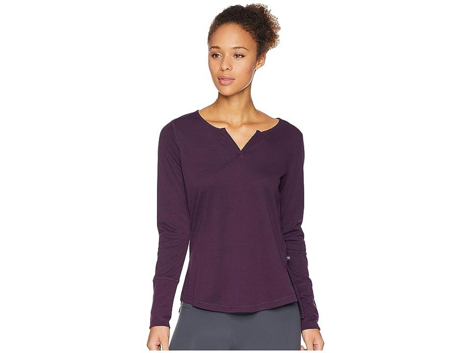 Mountain Hardwear Daisy Chaintm Split Neck Long Sleeve Shirt (Dark Tannin) Women