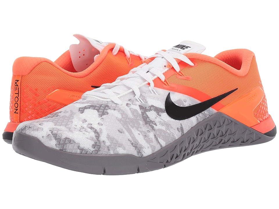 Nike Metcon 4 XD (Hyper Crimson/Black/Gunsmoke/White) Men's Cross Training Shoes, Gray