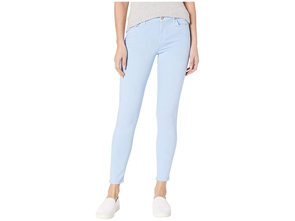 Image of 7 For All Mankind Ankle Skinny in Cerulean Blue (Cerulean Blue) Women's Jeans