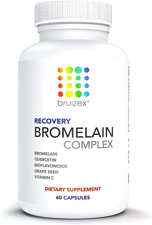 BRUIZEX Anti-Bruising Supplement Max 65% OFF Bromelain Non-GMO High order Quercetin