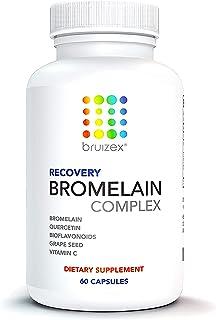 BRUIZEX Anti-Bruising Supplement, Non-GMO Bromelain & Quercetin Complex: Swelling & Pain Relief, Full Body Anti-Inflammato...