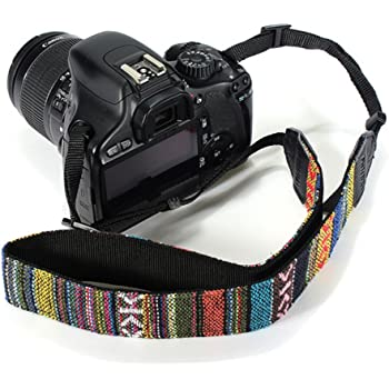 Adjustable Universal Camera Shoulder Neck Strap Belt Anti-Slip 6008A BYbrutek Camera Strap for DSLR Camera Vintage Style