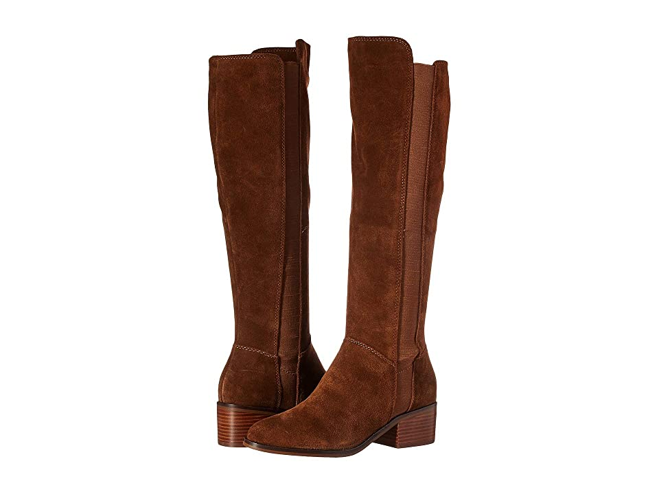 Steve Madden Giselle To the Knee Boot (Chestnut Suede) Women