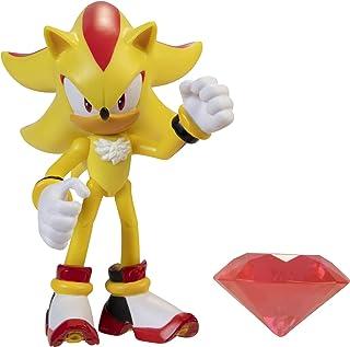 Sonic - The Hedgehog 407004 Sonic figurer, 10 cm, Super Shadow w/Chaos Emerald, gul