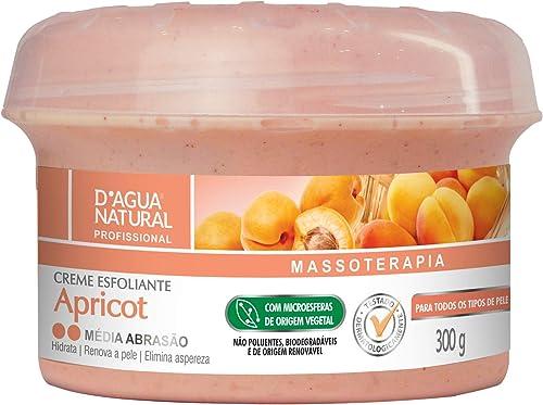 Creme Esfoliante Apricot Média Abrasão, D'agua Natural, 300 g