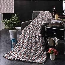SSKJTC London Blue Throw Blanket Double-Sided Printing UK English Landmarks Sofa Camping Reading Car Travel W50 xL60