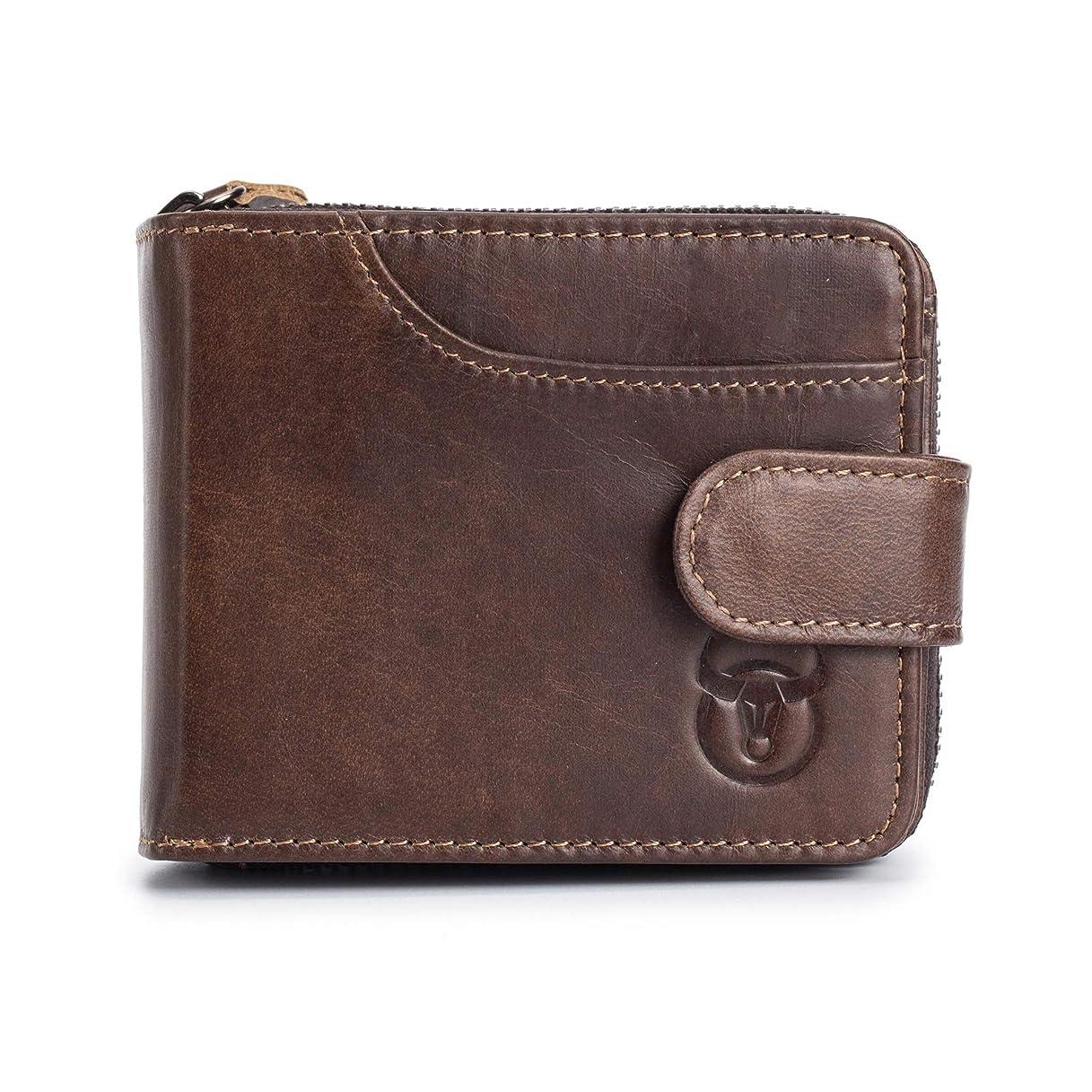 部族ピュー慢なAdisaer-レザー メンズ 男性用 財布 小銭入れ 二つ折り カード入れ 記念日 父の日 誕生日 ギフト プレゼント 特別な贈り物