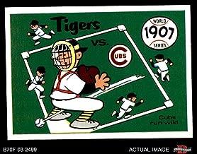 1970 Fleer World Series # 4 1907 Cubs vs. Tigers Cubs/Tigers (Baseball Card) Dean's Cards 6 - EX/MT Cubs/Tigers