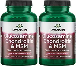 Swanson Mini-Tabs Glucosamine Chondroitin & Msm 750/600/300 Milligrams 360 Tabs 2 Pack