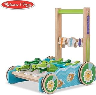 "Melissa & Doug First Play Chomp & Clack Alligator Push Toy (Developmental Toy, 15"" H x 15"" W x 11.75"" L) (Renewed)"