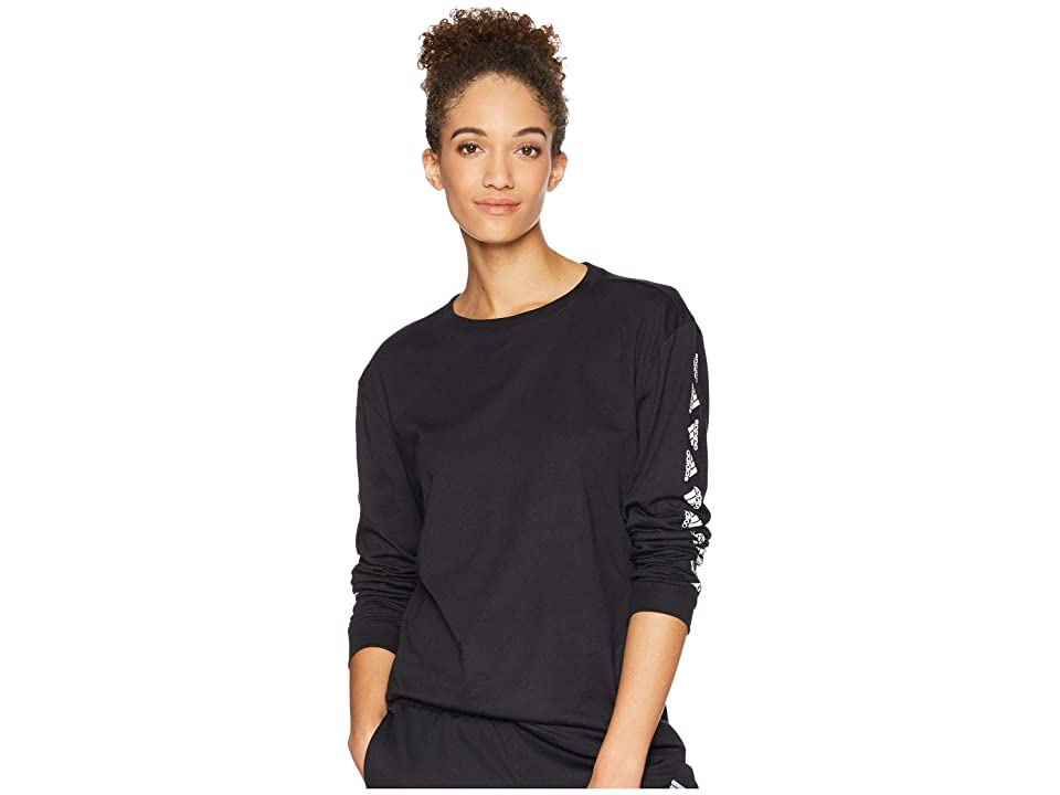 adidas Badge of Sport Moto Long Sleeve Tee (Black) Women