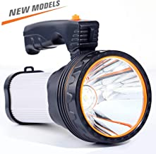 CSNDICE 35W Bright Rechargeable Searchlight handheld, LED Flashlight Tactical Flashlight with Handle CREE L2 Spotlight 6000 Lumens Ultra-long Standby Electric Torch with USB OUTPUT as a Power Bank