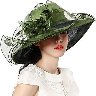 Women Race Hats Organza Hat with Ruffles Feathers