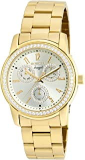 Invicta Women's Angel Quartz Watch with Stainless-Steel Strap, Gold, 20 (Model: 18990)