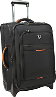 Traverler's Choice Birmingham Lightweight Expandable Rugged Rollaboard Rolling Luggage, Black (Black) - TC0840K21