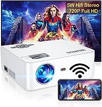 پروژکتور WiFi ، مینی پروژکتور قابل حمل WiMiUS S2 w / 6000 Brightness High Contrast Lumens