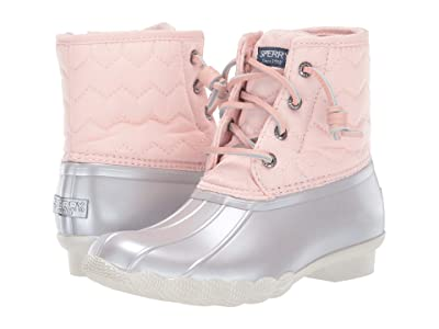 Sperry Kids Saltwater Boot (Little Kid/Big Kid) (Blush/Silver) Girls Shoes