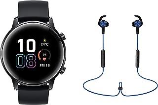 HONOR MagicWatch 2 (42mm, Black Fluoroelastomer Strap) + Bluetooth Headphone