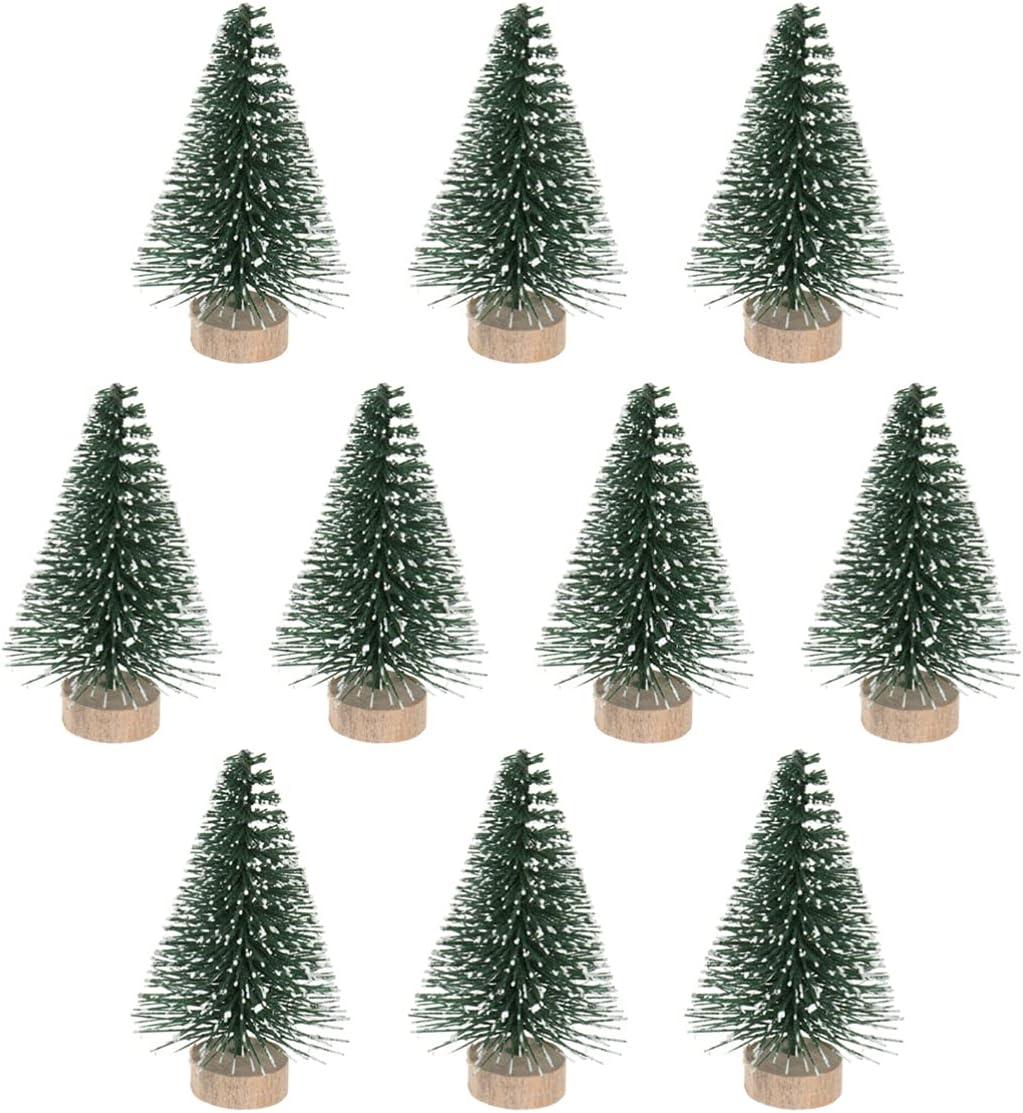 WINOMO 10 Pcs Mini Sisal Trees Miniature Brush Bottle Pine Topics on TV Recommended