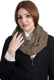 Women's Hand Knit Infinity Circular Scarf - 100% Baby Alpaca
