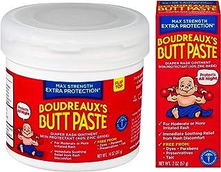 Sponsored Ad - Boudreaux's Butt Paste Maximum Strength Diaper Rash Ointment, 2 oz & 14 oz Bundle