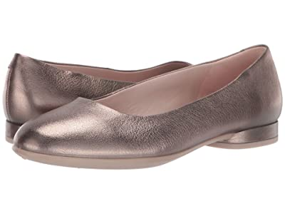 ECCO Anine Ballerina (Stone Metallic Cow Leather) Women