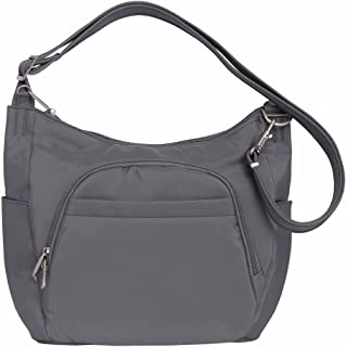 Anti-Theft Classic Crossbody Bucket Bag (One Size, DARK GREY)