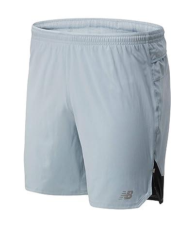 New Balance Impact Run 7-Inch Shorts (Light Slate) Men