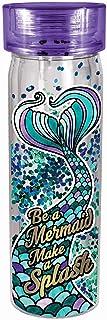 زجاجة مياه لامعة على شكل حورية البحر من سبونتيكس، مقاس واحد، لون فيروزي وأرجواني