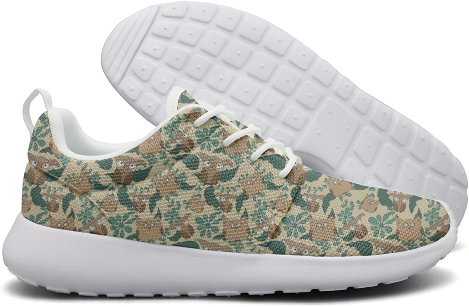Cute Owls Leaves Women's Top Sports Running shoes Unique Cute