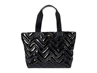 LAUREN Ralph Lauren Nylon Soft Quilted Canton 35 Tote Large (Black) Handbags