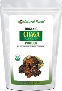 Sponsored Ad - Organic Chaga Mushroom Powder - 1 lb - Support Your Immune System & Antioxidant Benefits - Steep Like Tea o...