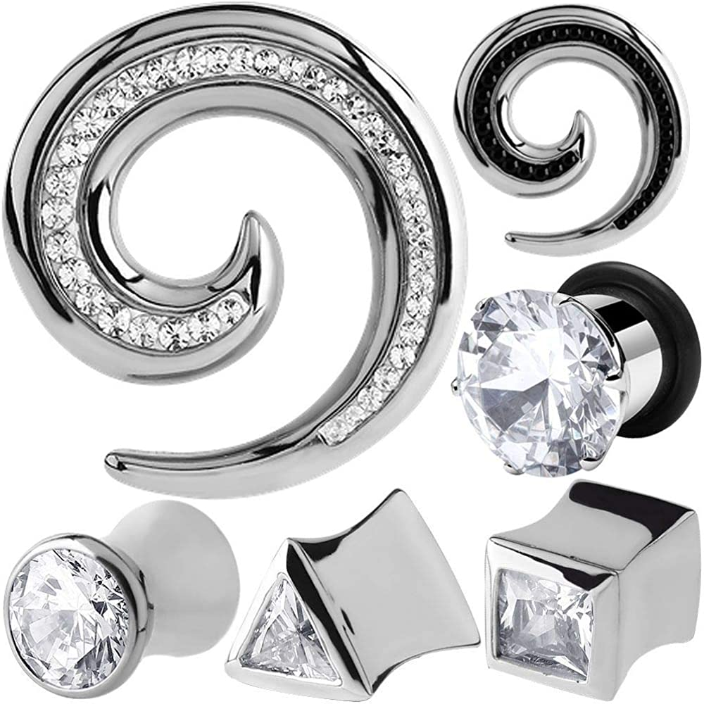 MoDTanOiz Sale special price - Flesh tunnels Bling Zirconia Crystal Cubic CZ Jewelr cheap