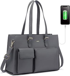 LOVEVOOK Handtasche Damen Shopper Damen Groß Laptop Tasche 15.6 Zoll Aktentasche Leder Businesstasche Damen Arbeitstasche ...