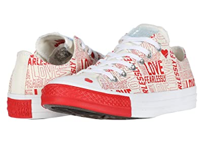 Converse CTAS Love Fearlessly Ox (Egret/University Red/White) Women