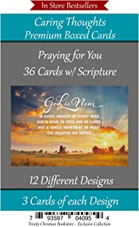 Praying for You Cards Premium 36 count Christian / Religious Greeting Card Assortment