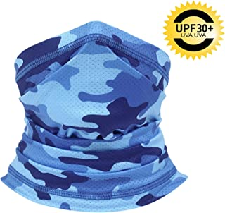 CUIMEI Summer Face Mask - Fishing Scarf Mask for Sun UV Dust Protection Neck Gaiters for Cycling Running Hiking Cool Bandana for Summer