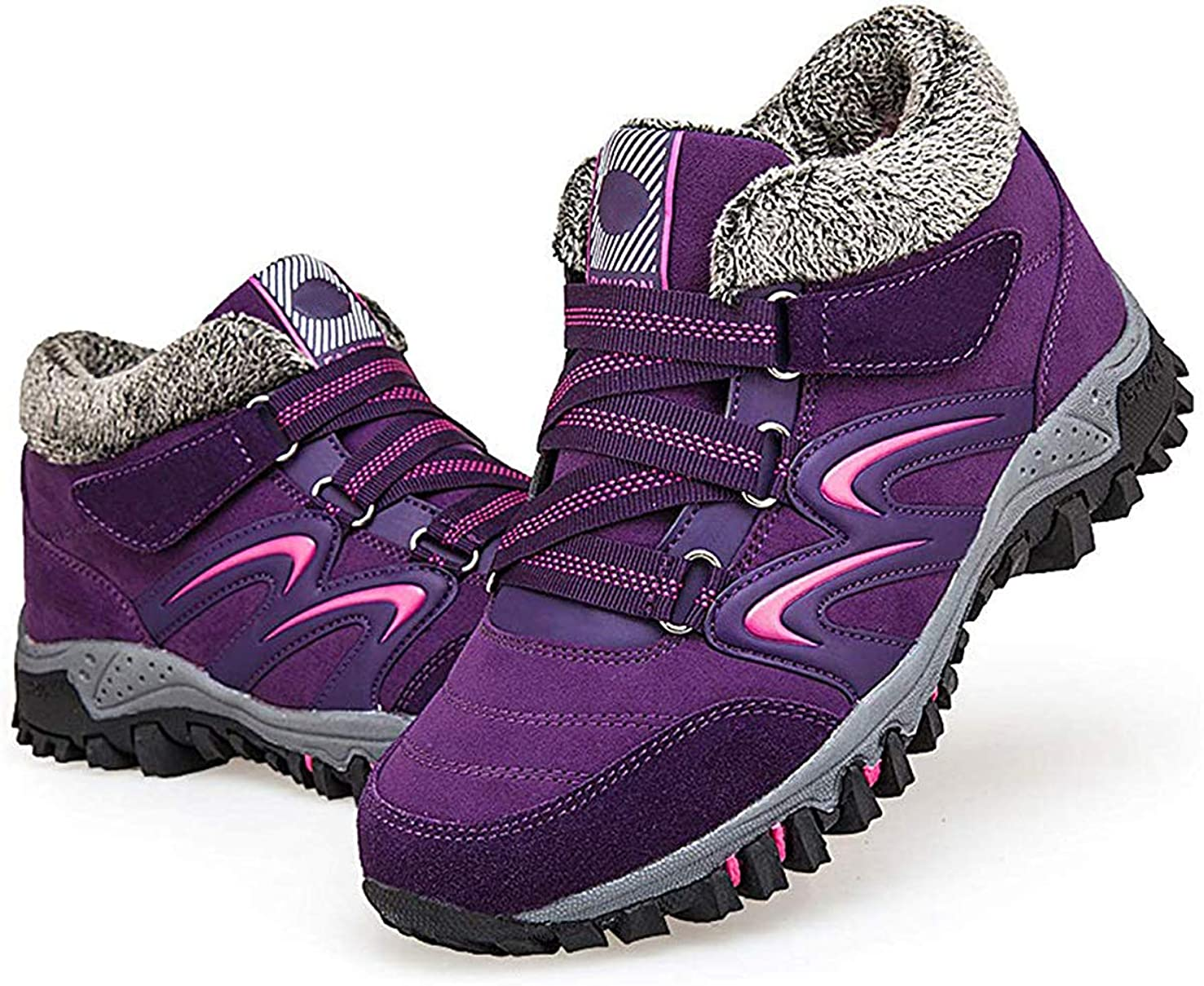 強制的ヒョウ広告するブーツのメンズハイキングシューズ、男性の女性のための軍の戦術的なブーツノンスリップ戦術ブーツ戦術ハイキングブーツを登山アウトドアキャンプ,紫色,40EU