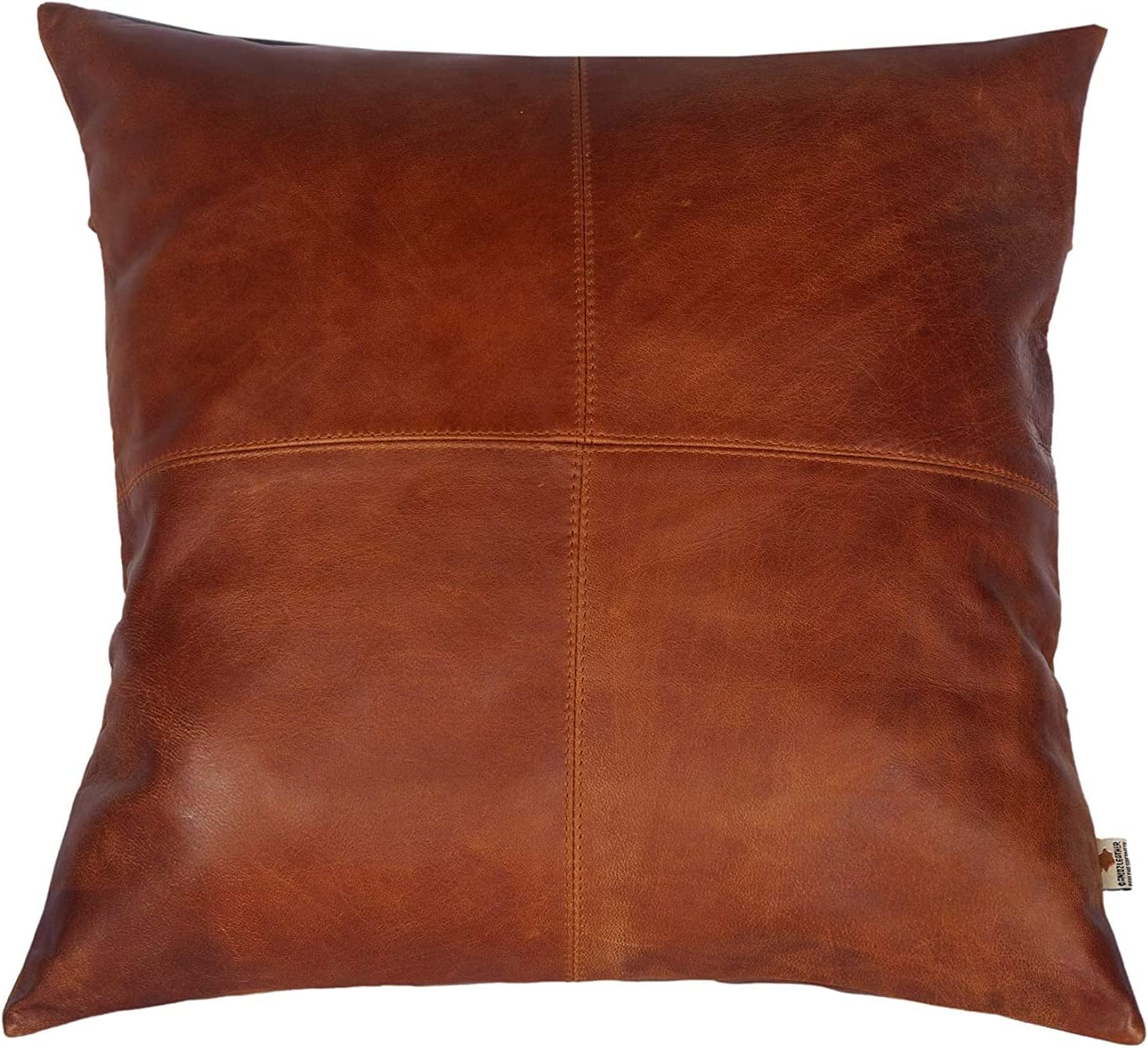お歳暮 LL Leather Lovers 100% Lambskin Lattice Cover Pillow Pattern S - デポー