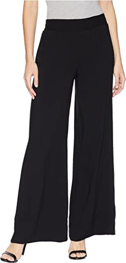 Wide Leg Pull-On Trousers