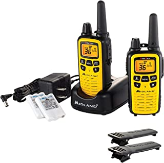 Best Midland - LXT630VP3, 36 Channel FRS Two-Way Radio - Up to 30 Mile Range Walkie Talkie, 121 Privacy Codes, & NOAA Weather Scan + Alert (Pair Pack) (Yellow/Black) Review