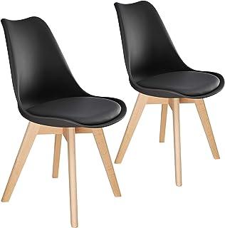 TecTake 800852 Lot de 2 Chaises de Salle à Manger Style Scandinave Mobilier d´Intérieur Pieds Bois Massif Design Moderne –...