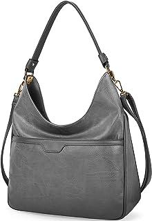 NUBILY Handtaschen Damen Groß Shopper Leder Hobo Bag Tasche Elegante Umhängetasche Damen Einkaufstasche Business Frauen Re...