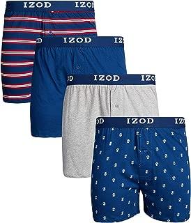 IZOD Mens Cotton Knit Boxers 4-Pack