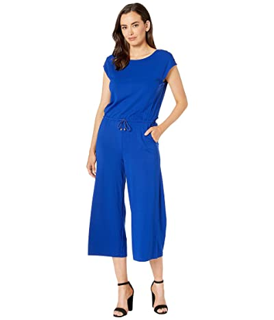 LAUREN Ralph Lauren Button-Trim Wide-Leg Jumpsuit (Blue) Women