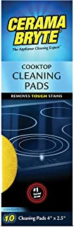 Cerama Bryte Glass-Ceramic Cooktop Cleaning Pads for Stubborn Stains, 10 Count