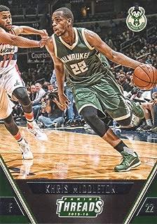 2015-16 Panini Threads Basketball #95 Khris Middleton Milwaukee Bucks
