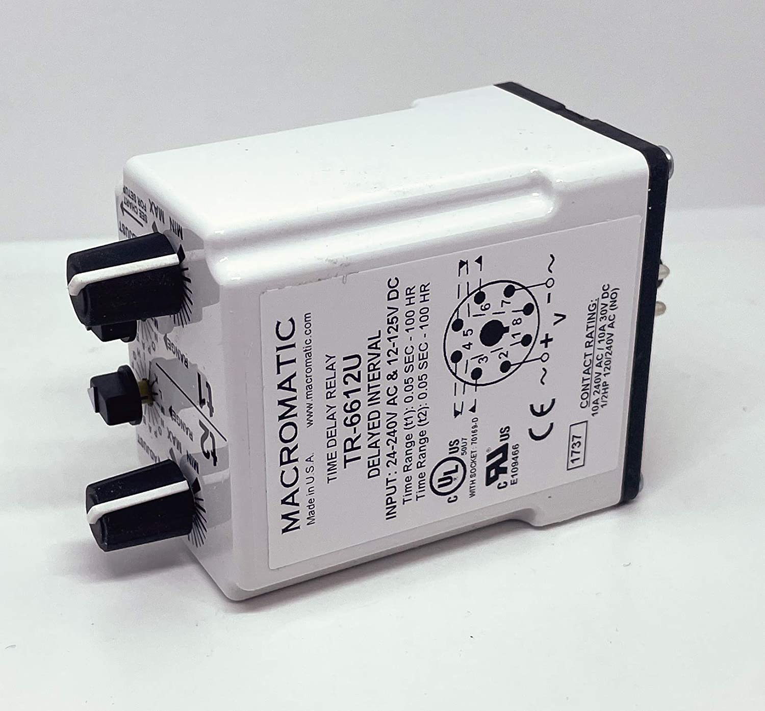 Time Delay Charlotte Mall Max 85% OFF Relay 30 V 0.05 s Ranger 100 h TR-6 TIME Series