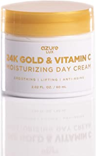 24K Gold & Vitamin C Luxury Moisturizing Day Cream - Smooths | Anti Aging | Lifts Skin Reducing Appearance Of Wrinkles and...