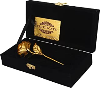 Msa Jewels Artificial Rose And Box (Gold, 1 Piece)